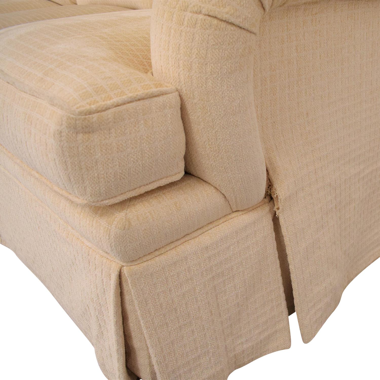 buy Mason-Art Three Seat Skirted Sofa Mason-Art