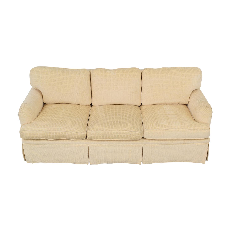 Mason-Art Mason-Art Three Seat Skirted Sofa beige