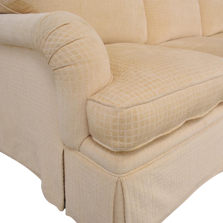 shop Mason-Art Three Seat Skirted Sofa Mason-Art