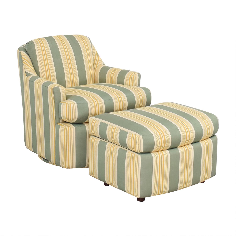 Mason-Art Custom Made Chair and Ottoman / Chairs