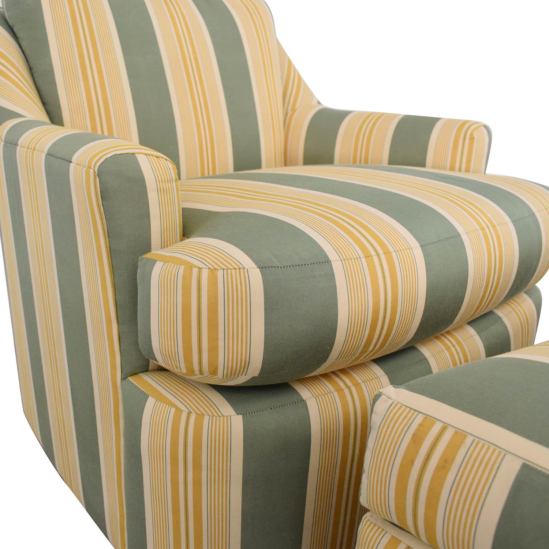 Mason-Art Mason-Art Custom Made Chair and Ottoman on sale