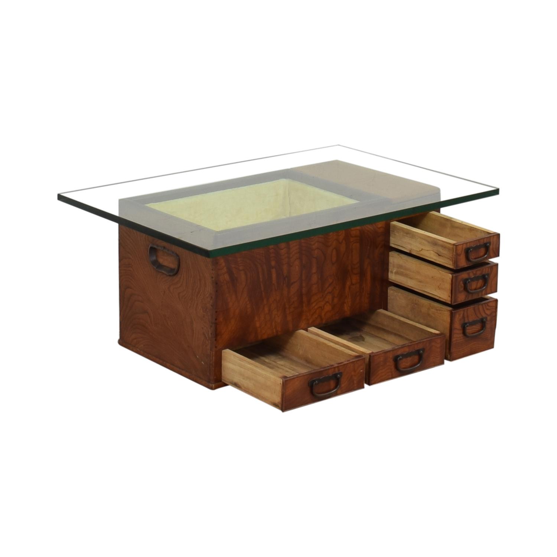 Glass Top Coffee Table pa