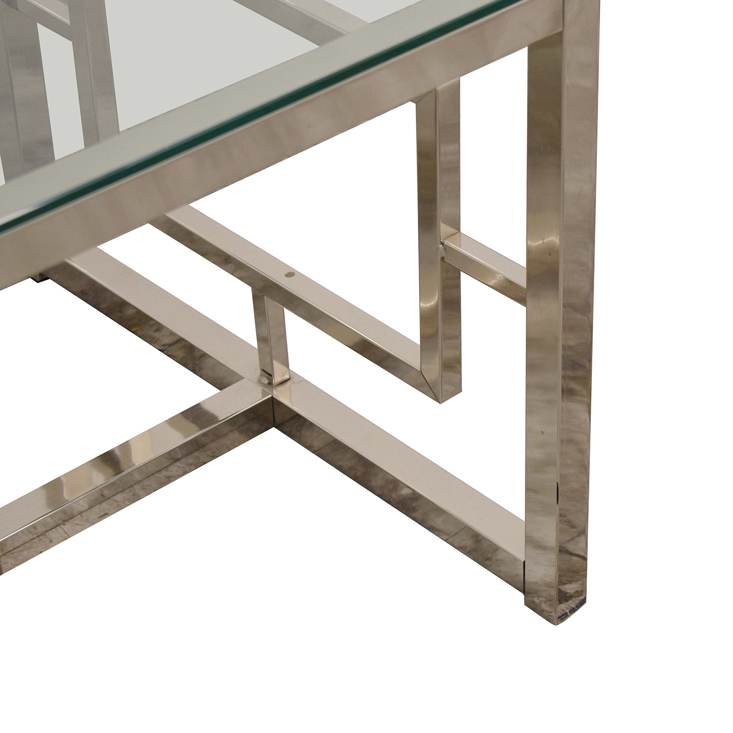 West Elm West Elm  Glass Coffee Table for sale