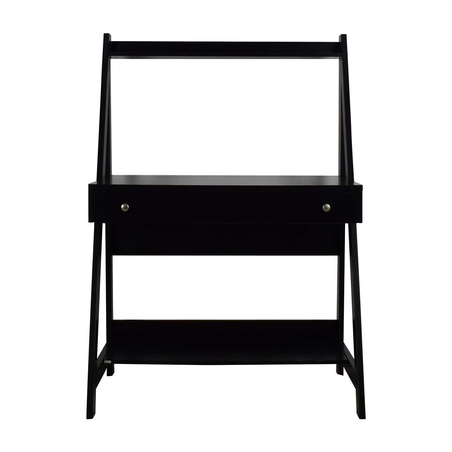 Bush Furniture Black Ladder Office Desk Tables