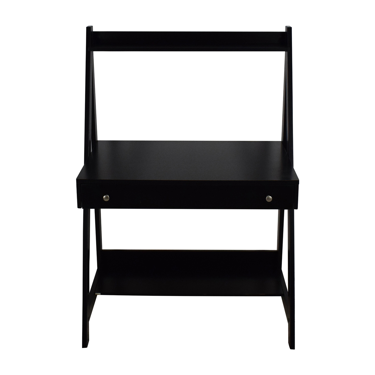 Bush Furniture Black Ladder Office Desk / Tables