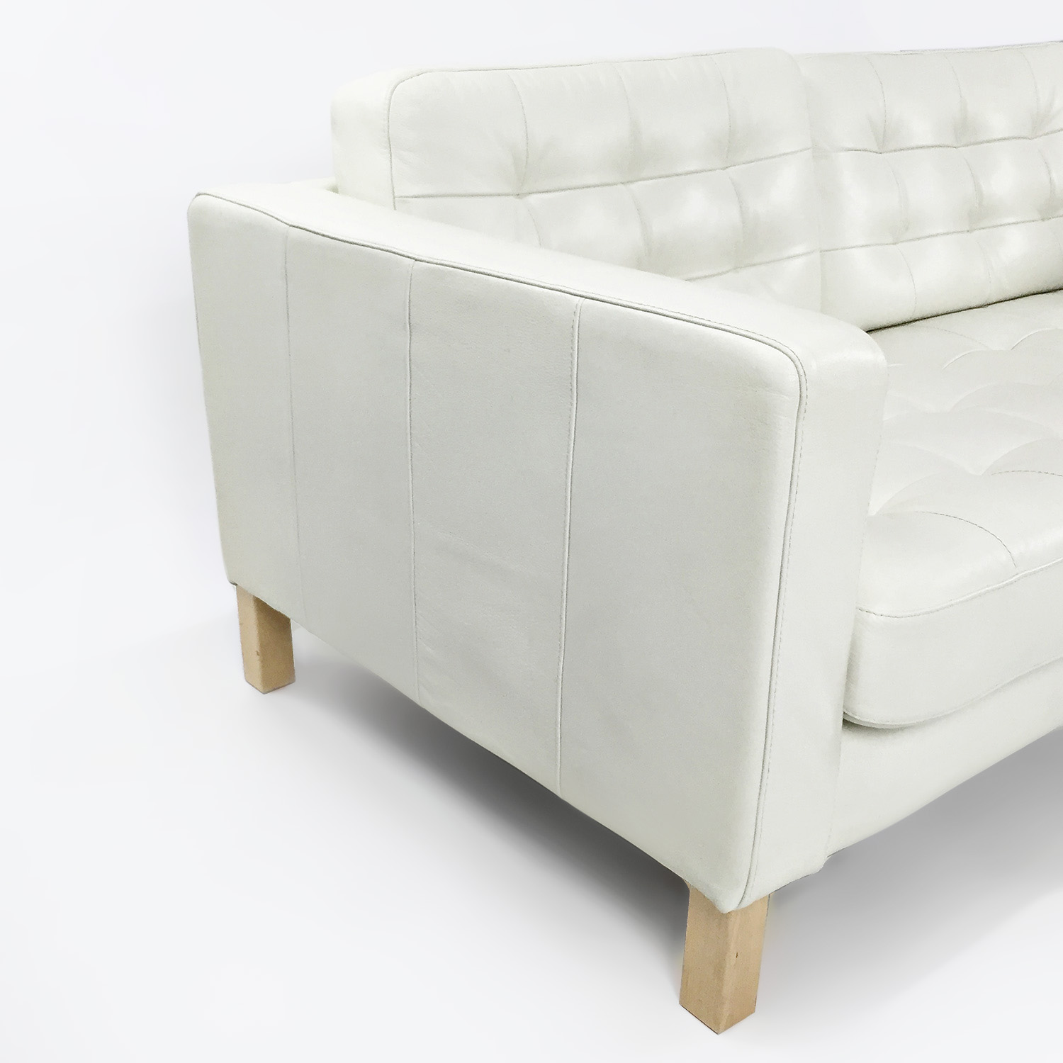 Ikea White Leather Couch Sofas: IKEA White Leather Couch / Sofas