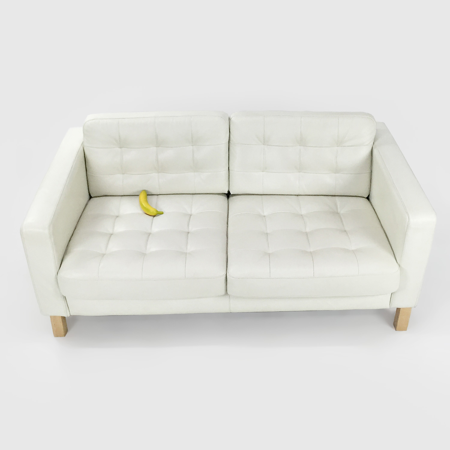 Good ... Buy White Leather Couch IKEA Sofas ...