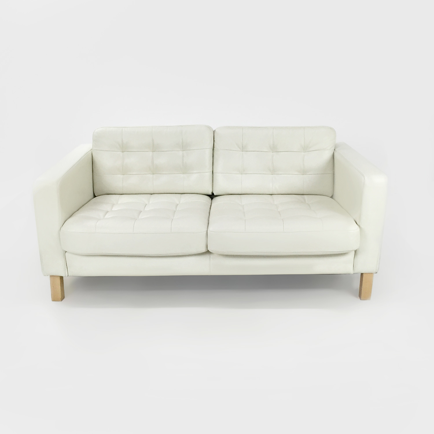 Ikea White Leather Couch On