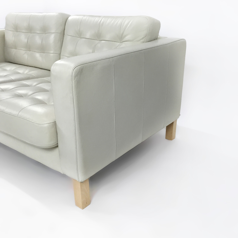 White leather couches ikea faux leather corner unit posot class 100 ikea white leather sofa - Ikea red leather sofa ...