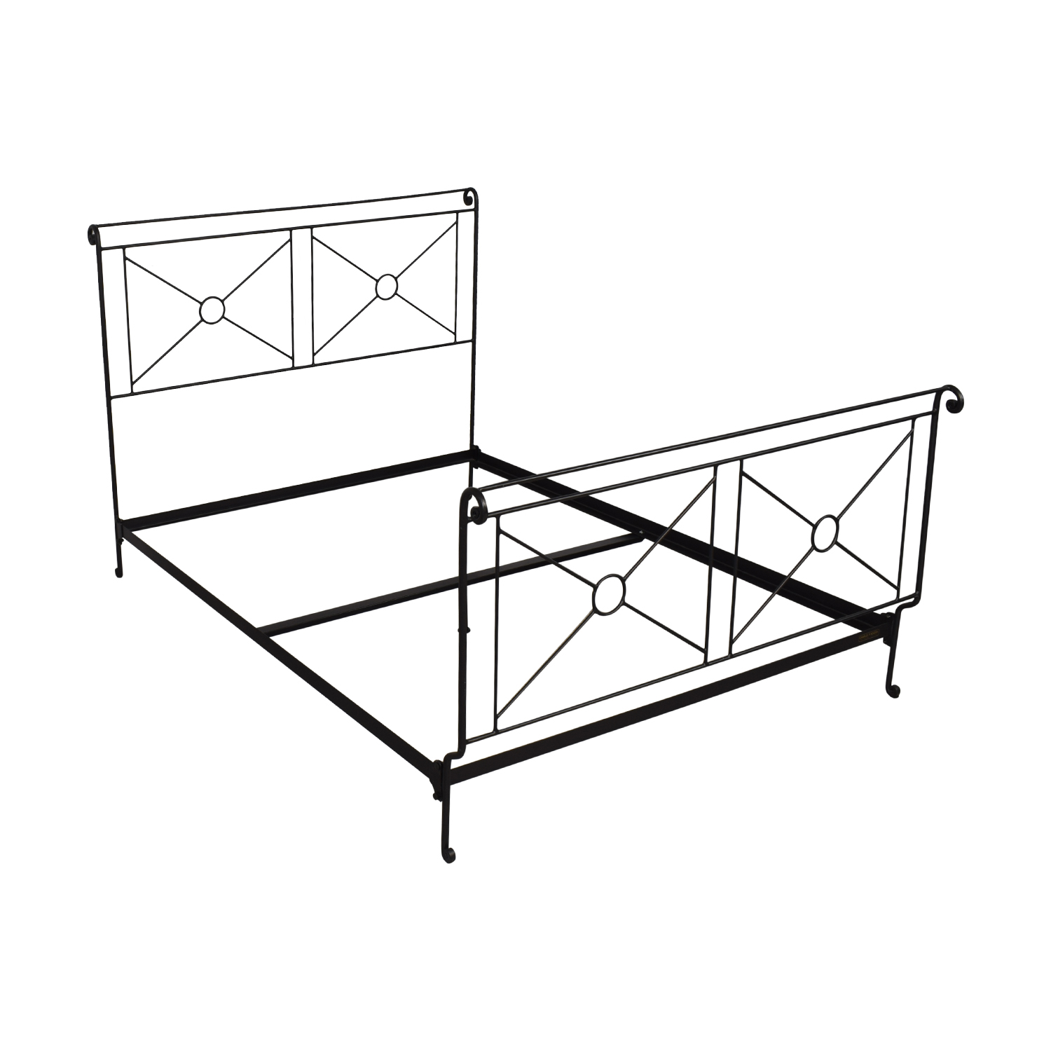 Charles P Rogers Queen Campaign Bed / Bed Frames