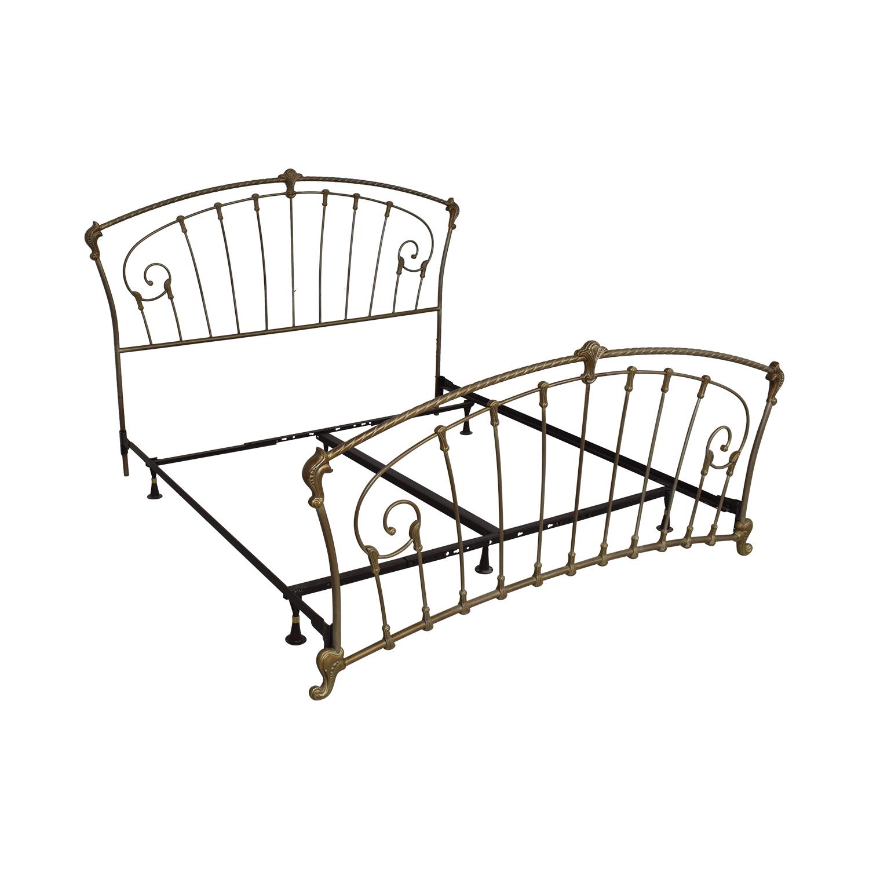 shop Metal Frame King Bed  Bed Frames