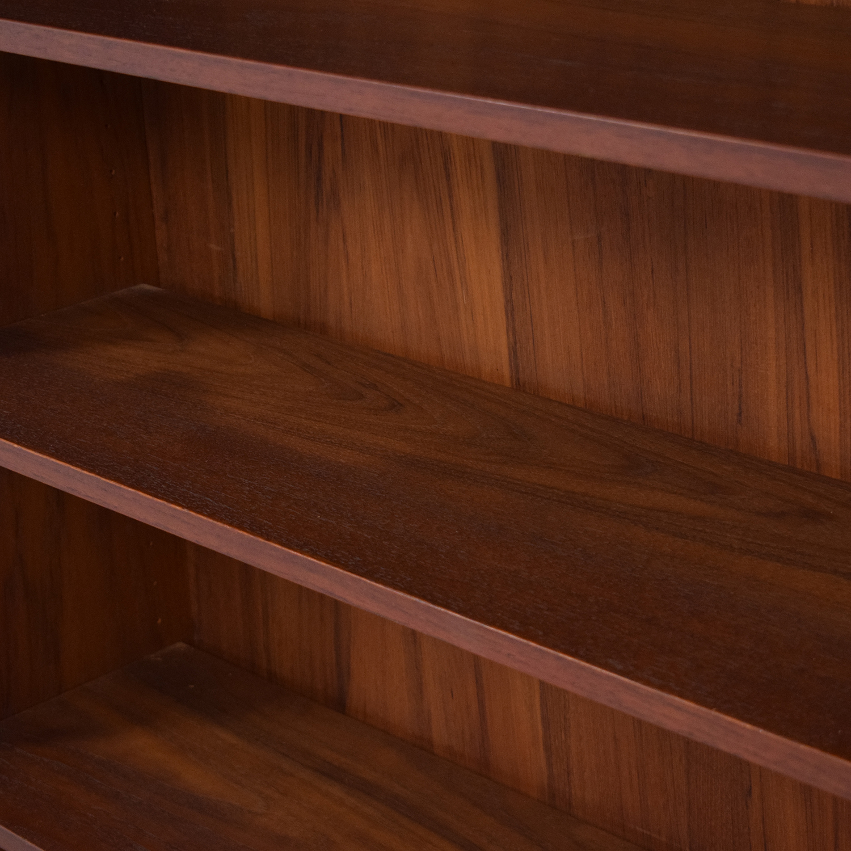 Mid Century Six Shelf Bookcase brown