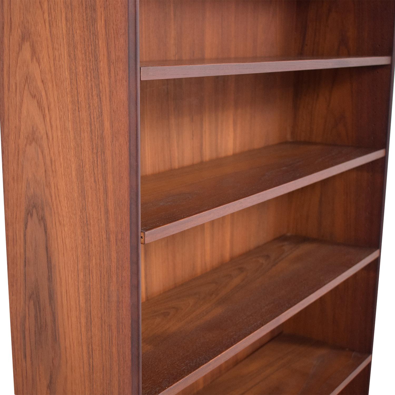 Mid Century Six Shelf Bookcase Storage
