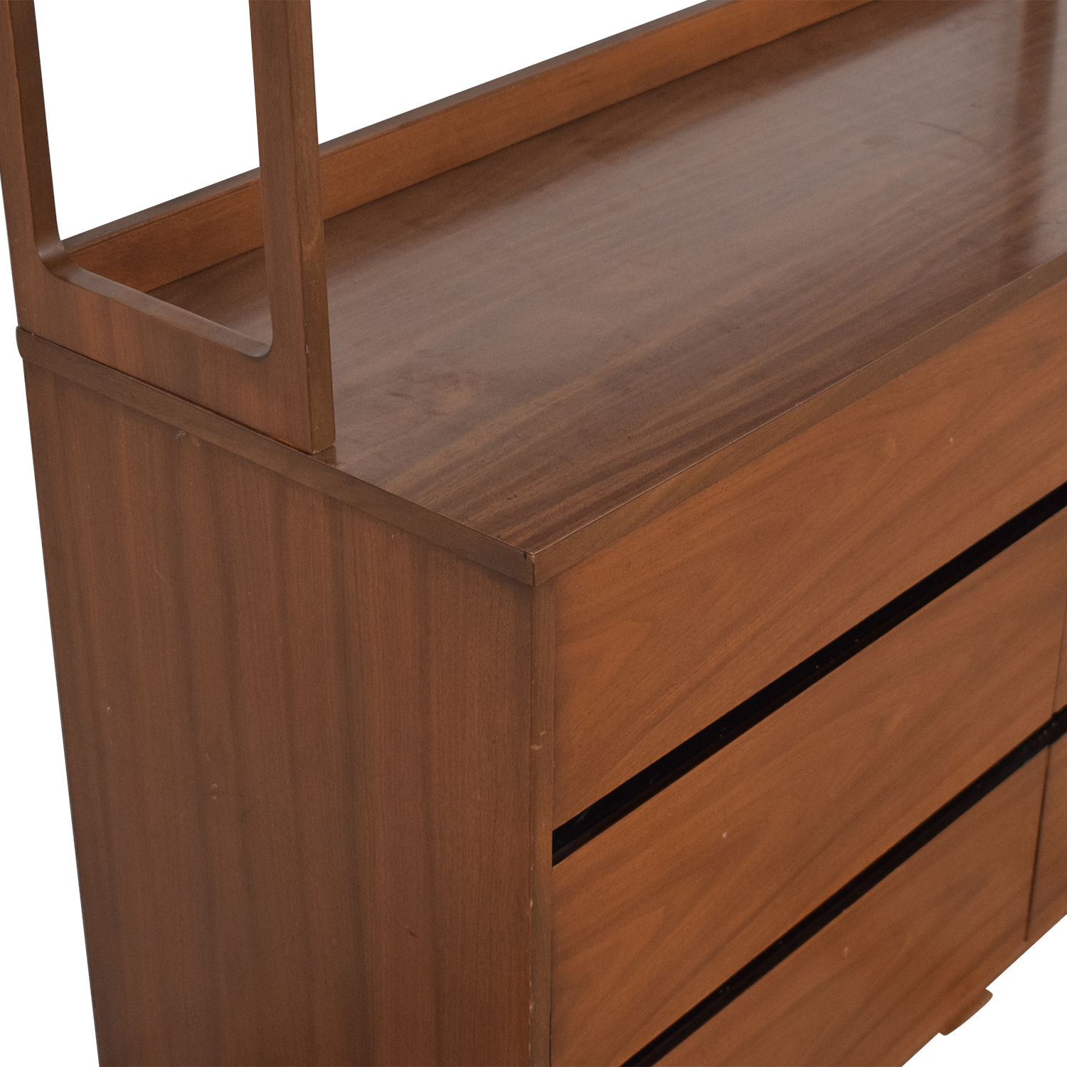 Mid Century Dresser with Shelves ma