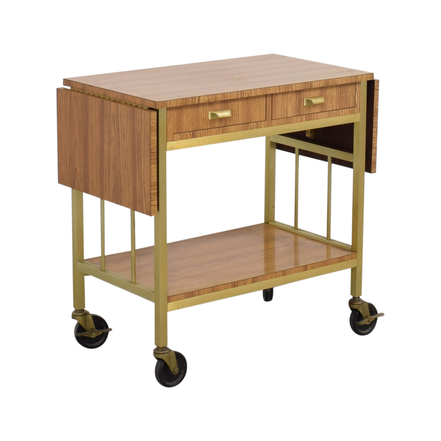 Rolling Tea Cart with Storage Utility Tables
