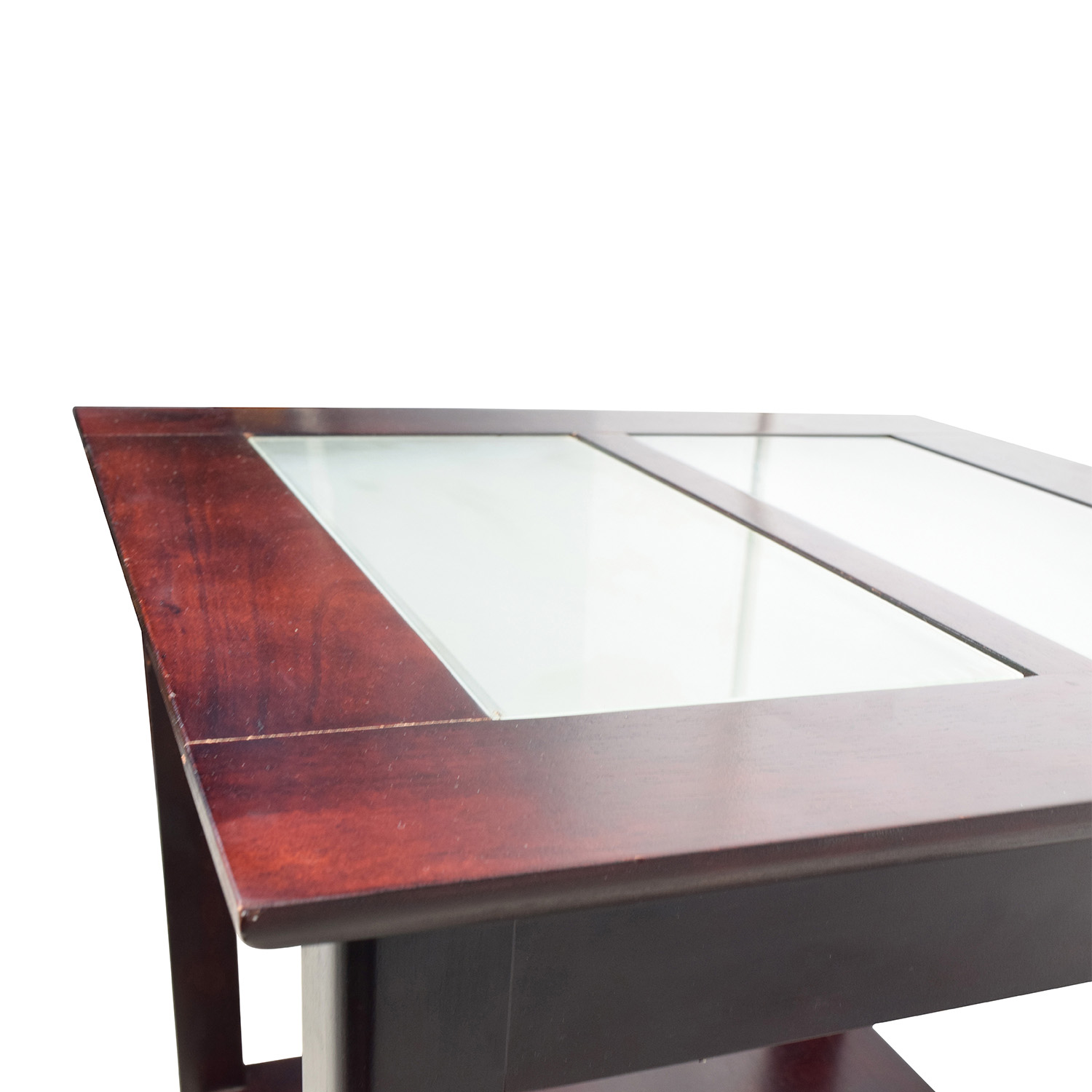 85% OFF Tar Tar Glass and Wood Coffee Table Tables