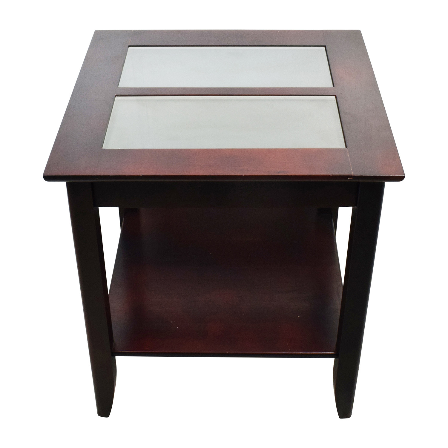buy target glass and wood coffee table