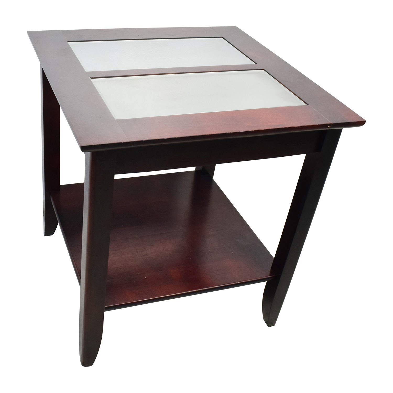 85% OFF   Target Target Glass And Wood Coffee Table / Tables