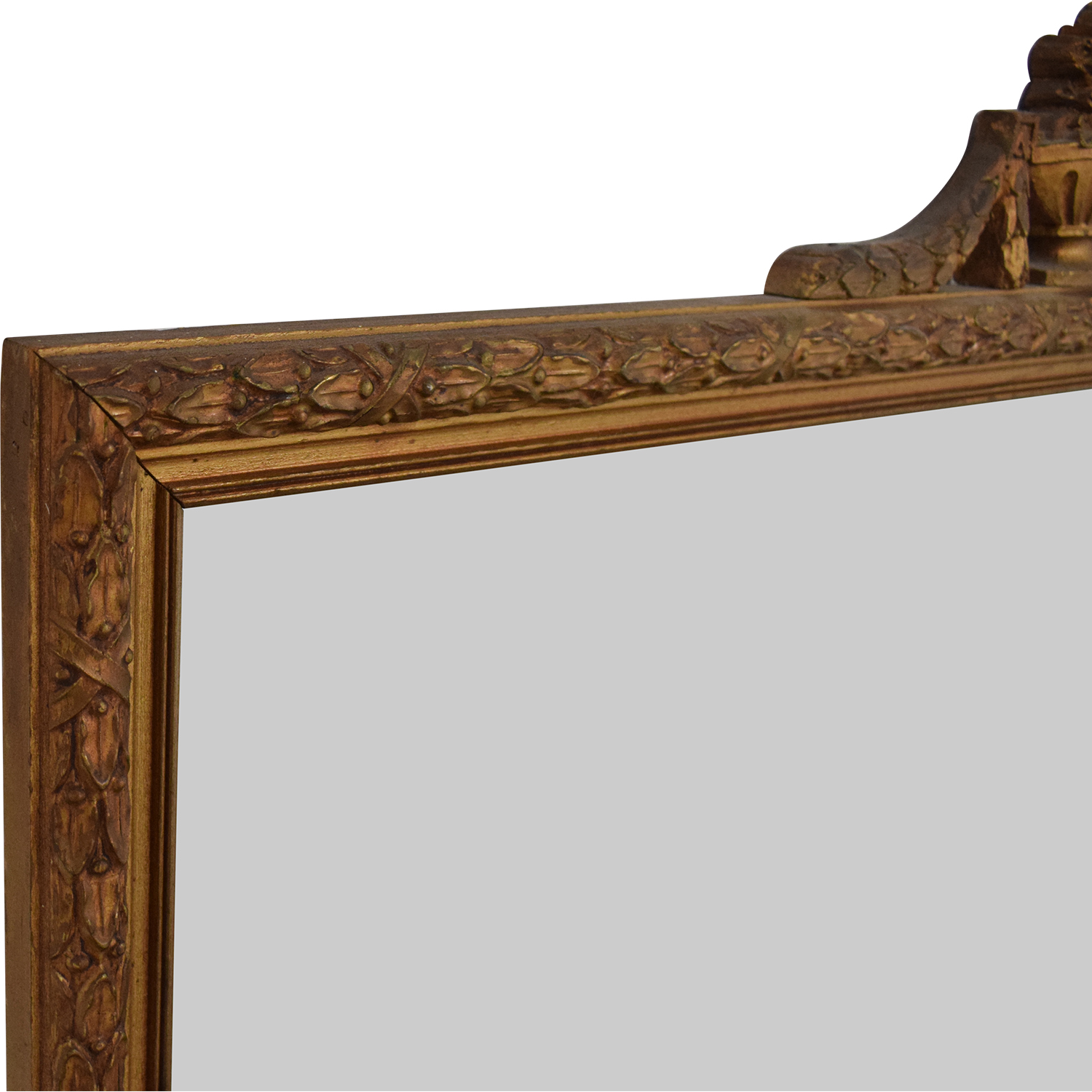 White Seid Products Vintage Framed Mirror discount