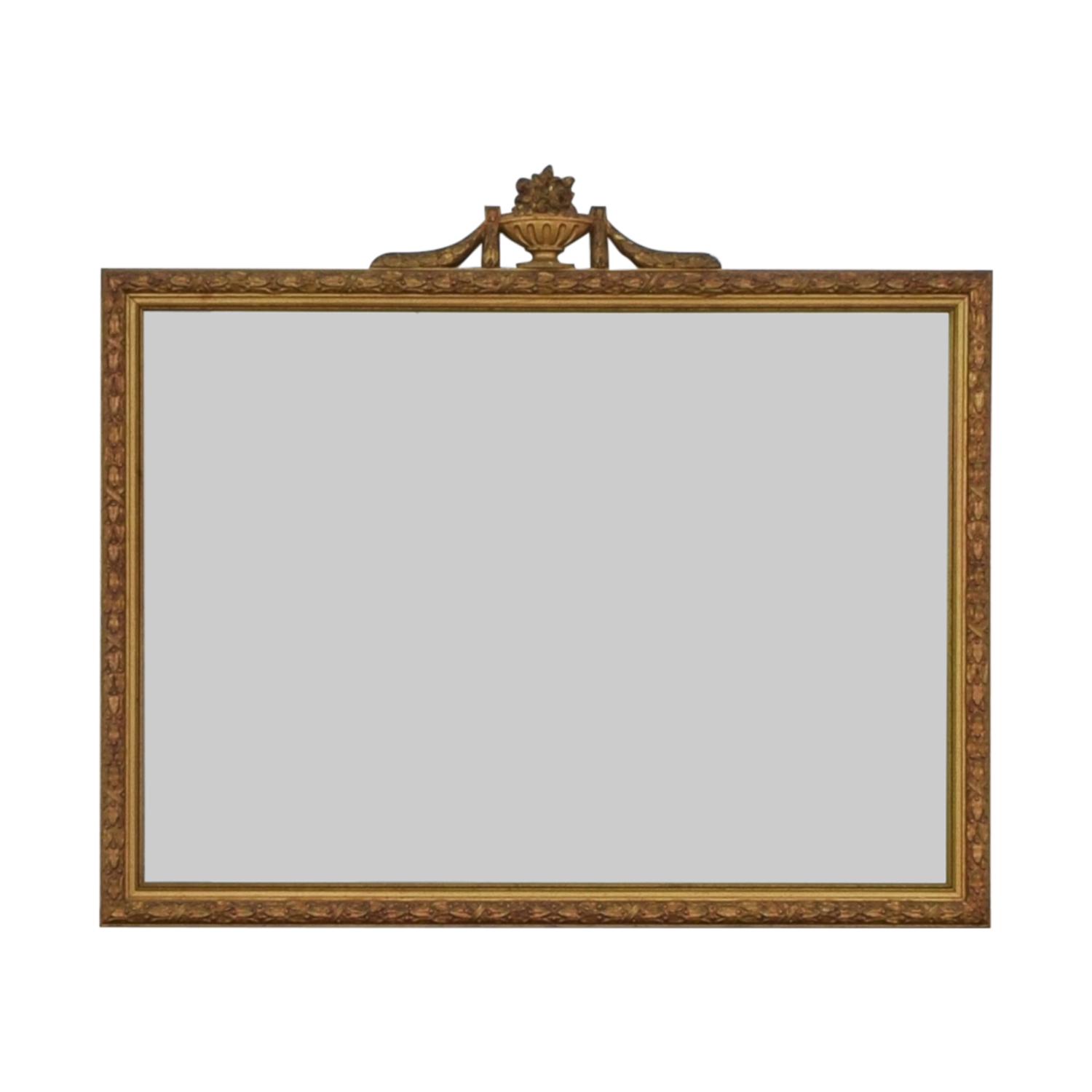 White Seid Products Vintage Framed Mirror / Decor