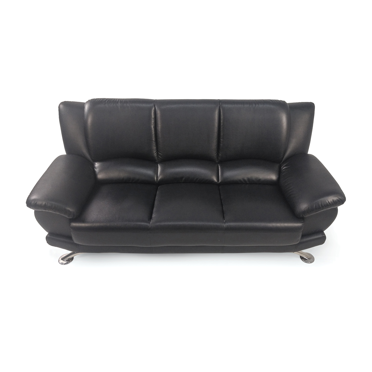 Used Black Leather Sofa Used Black Leather Reclining Sofa Kendrys Furniture Hardly Used 2