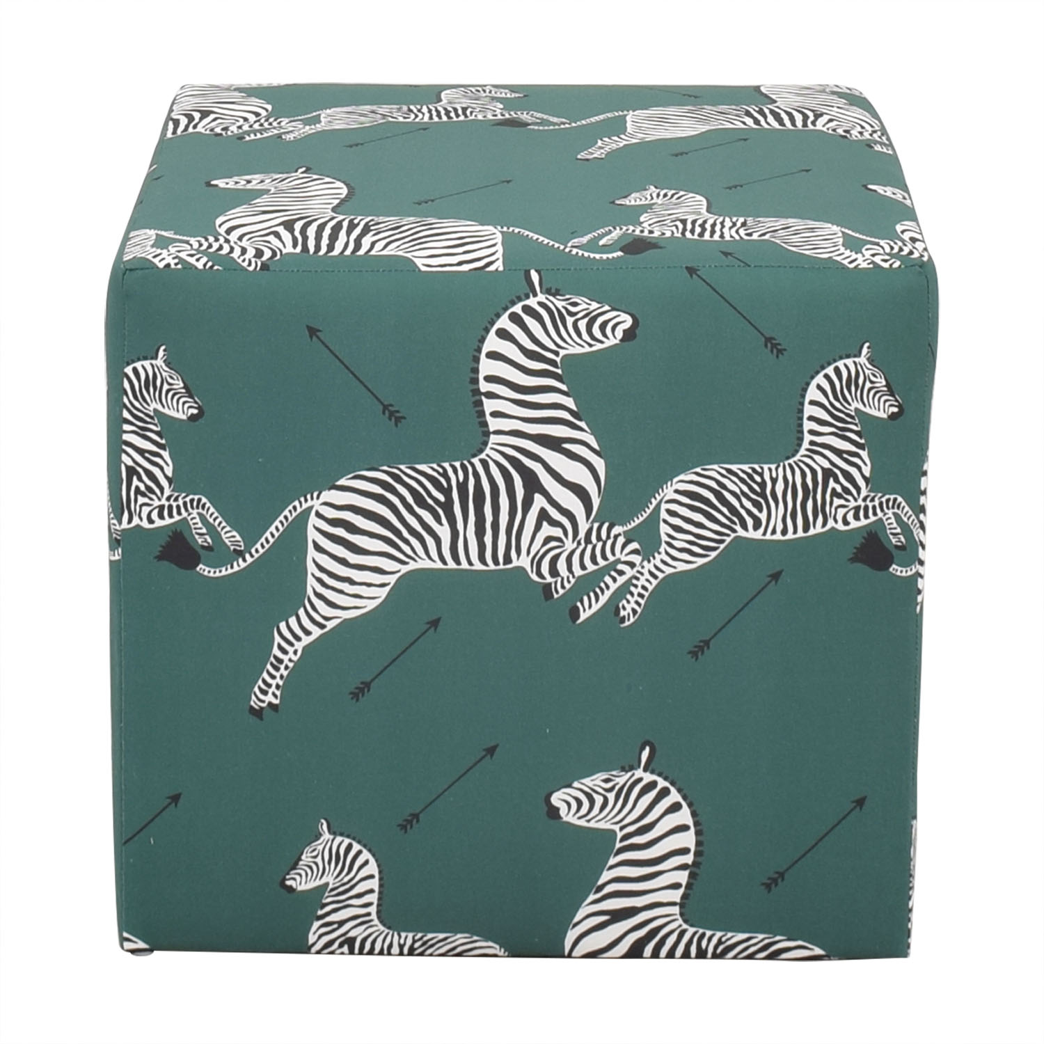 shop The Inside Emerald Zebra Cube Ottoman The Inside Chairs
