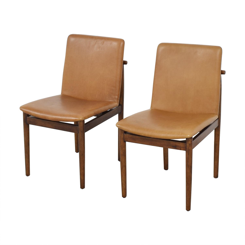 West Elm Framework Leather Dining Chairs West Elm