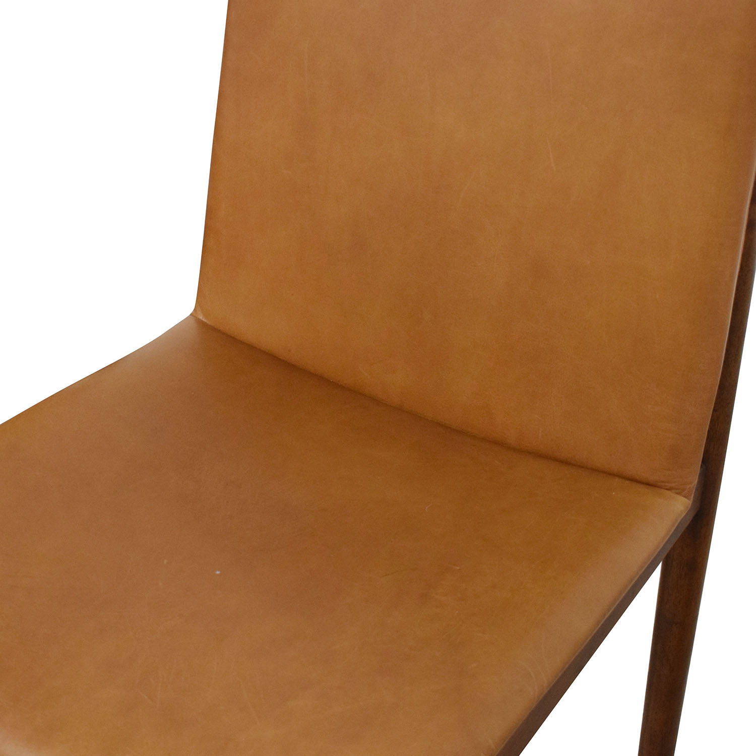 West Elm West Elm Framework Leather Dining Chairs brown