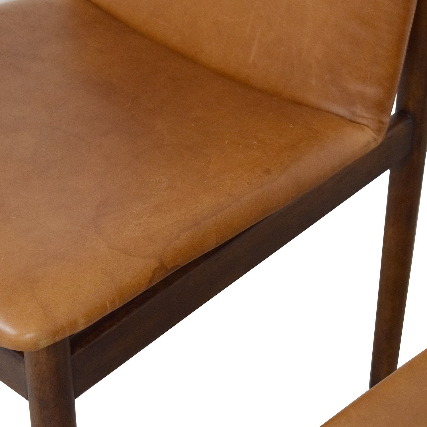 West Elm Framework Leather Dining Chairs sale