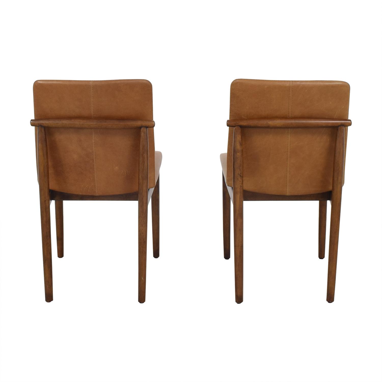 buy West Elm West Elm Framework Leather Dining Chairs online