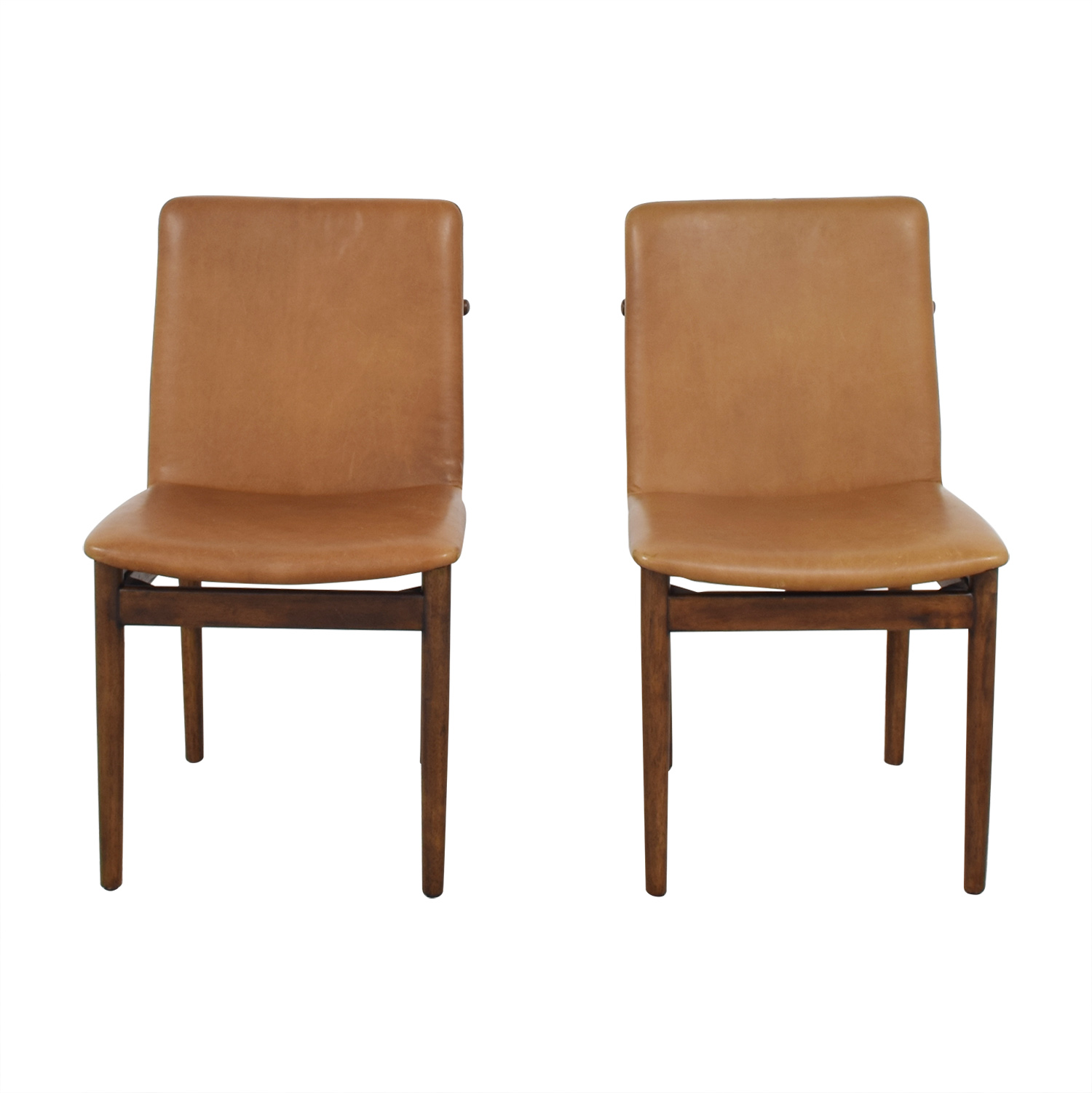 buy West Elm Framework Leather Dining Chairs West Elm