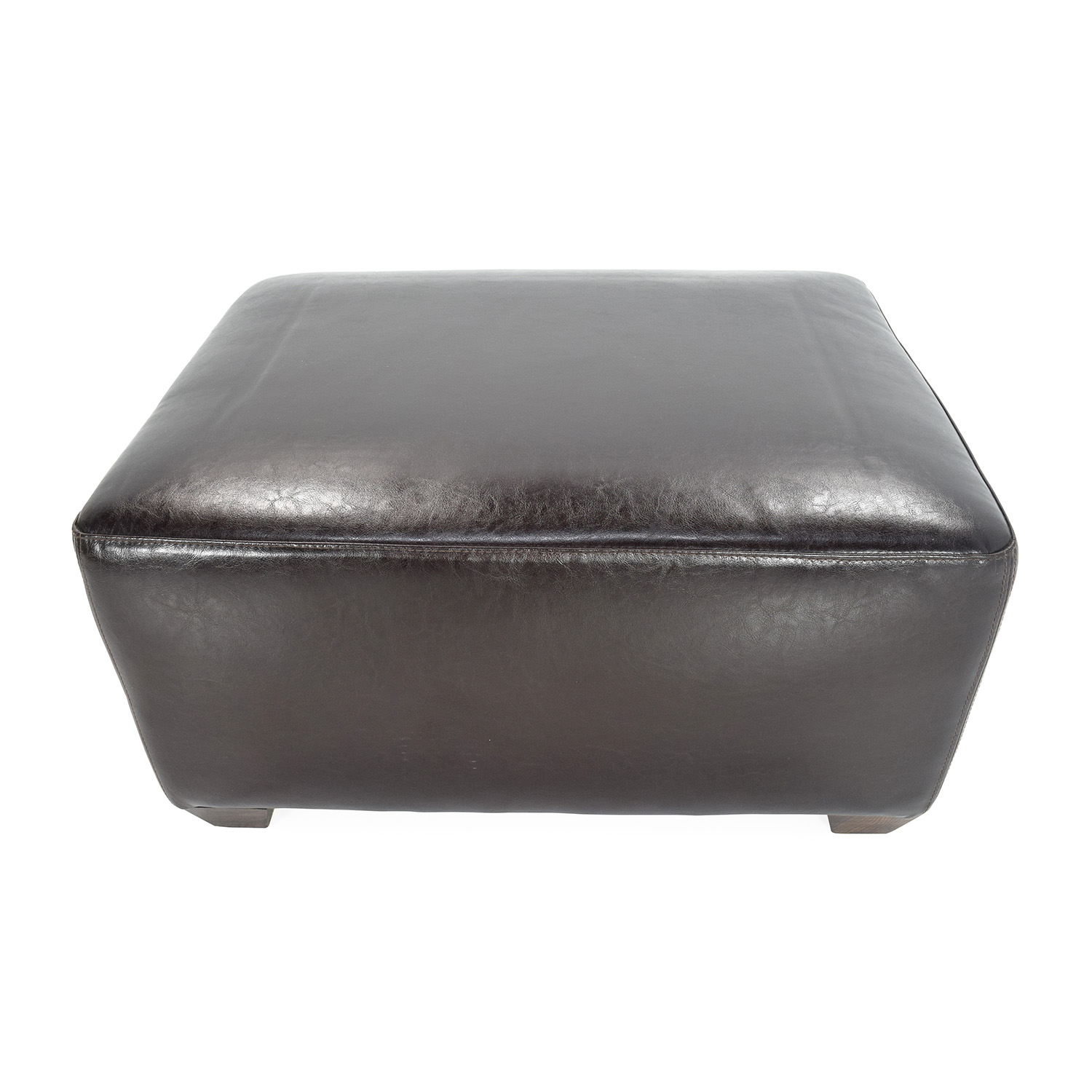 Brown leather ottoman -  Custom Brown Leather Ottoman Discount