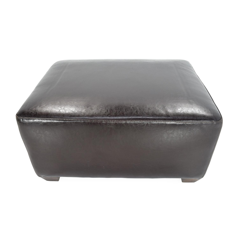 buy Brown Leather Ottoman Custom Storage