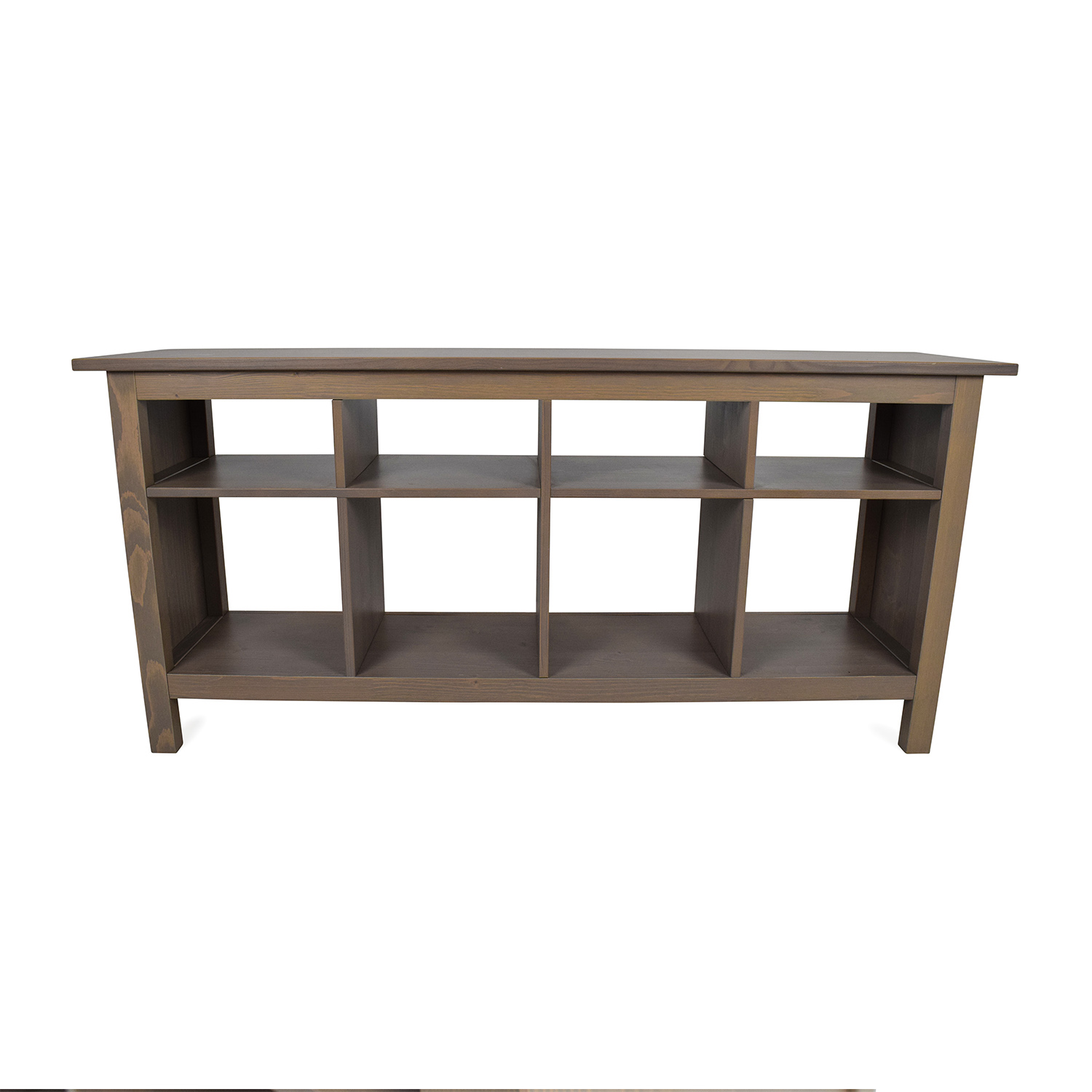 54 off ikea ikea modern low glass tv stand with wicker - Ikea table tv ...