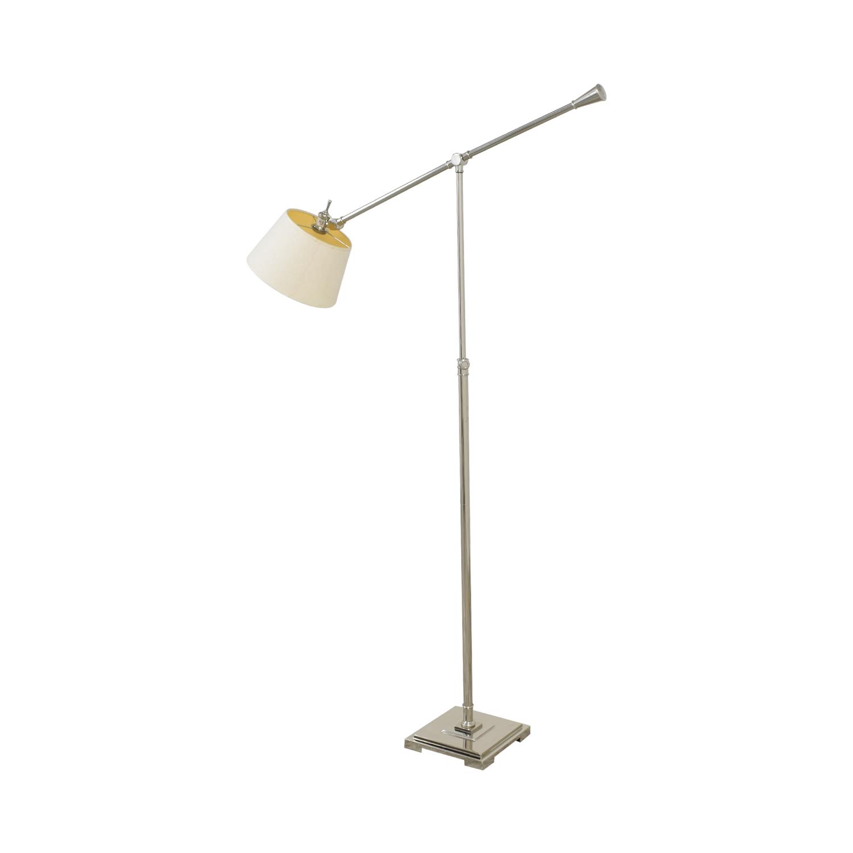 Crate & Barrel Crate & Barrel Adjustable Floor Lamp silver & beige