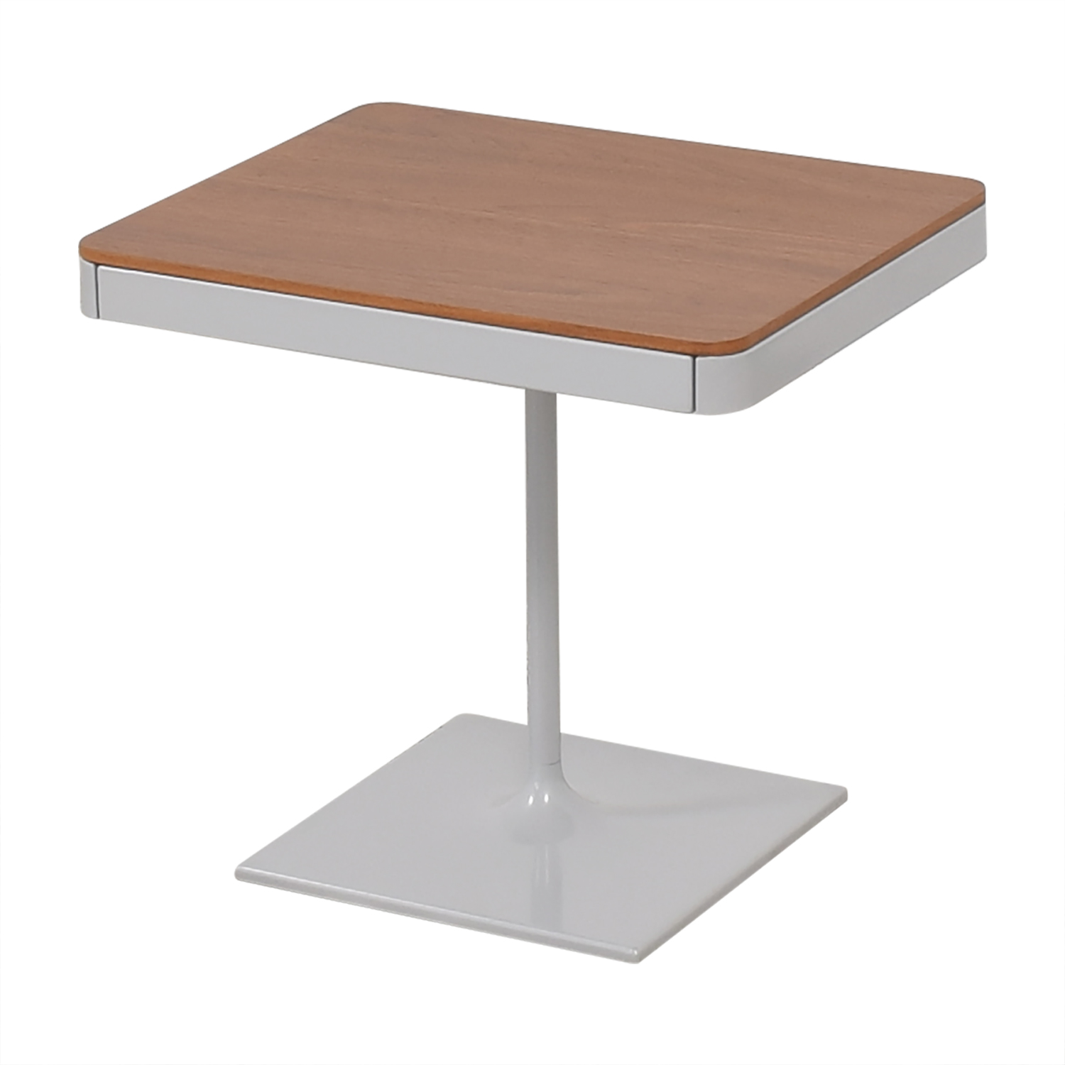 Design Within Reach Min Bedside Table with Pedestal Base Design Within Reach