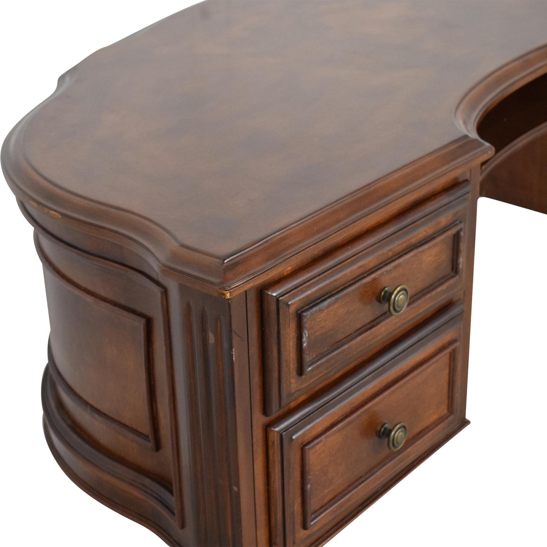 Half Round Secretary Desk dark brown