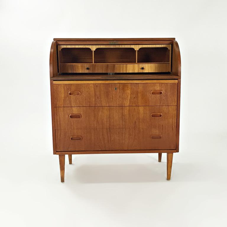 shop Custom Teak Danish 1950's Roll Top Desk online