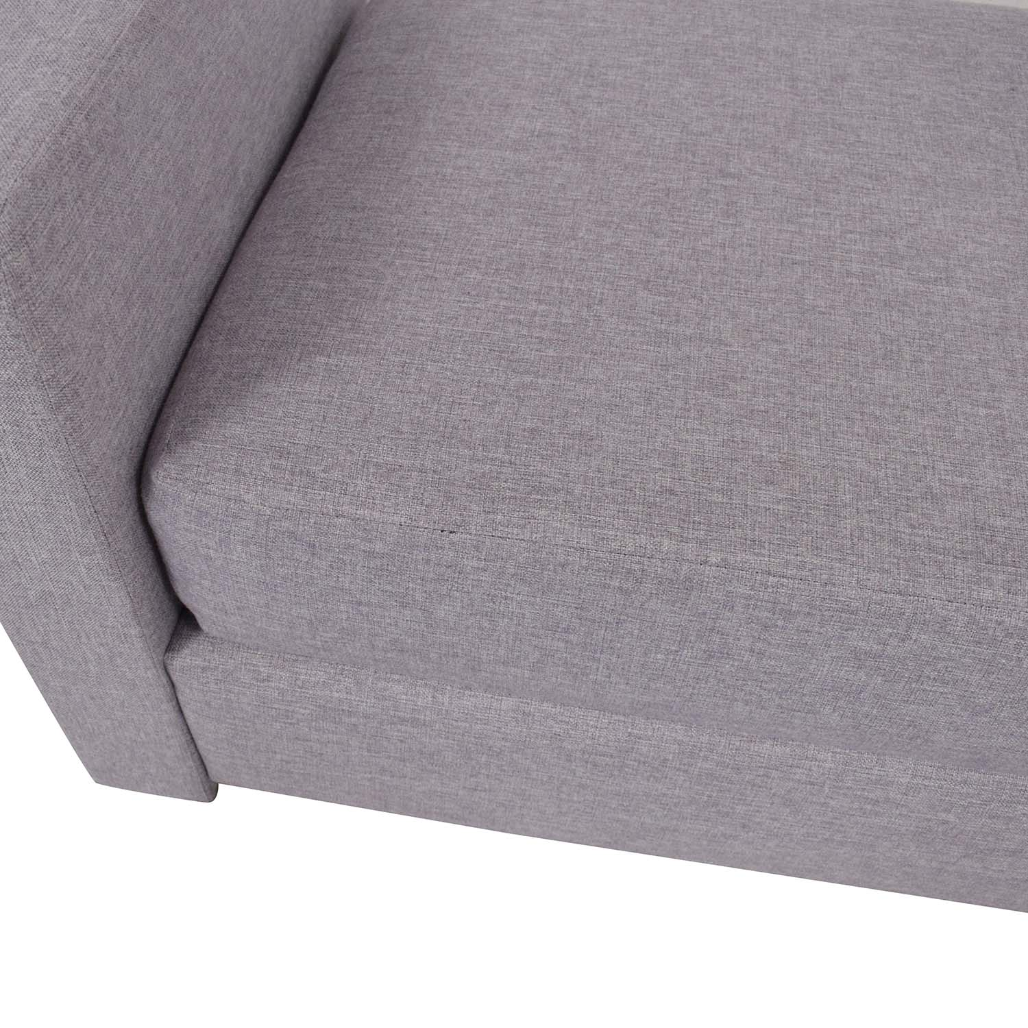 Breda Modern Backless Daybed Sofa / Chaises