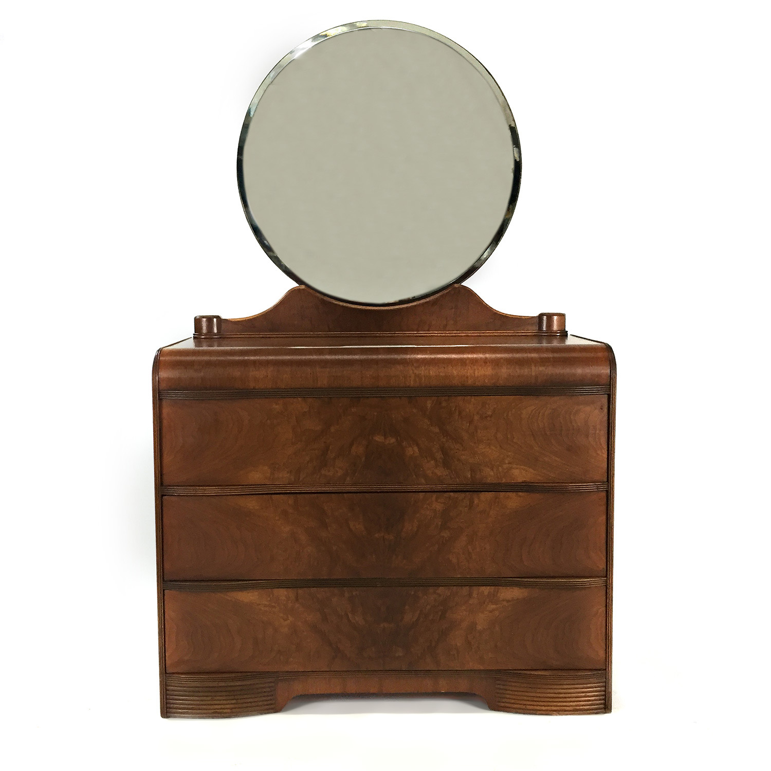 Custom Art Deco Waterfall Dresser with Mirror dimensions
