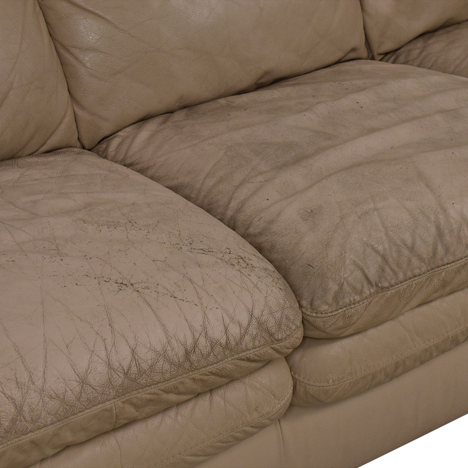 Natuzzi Three Seat Pillow Arm Sofa / Sofas