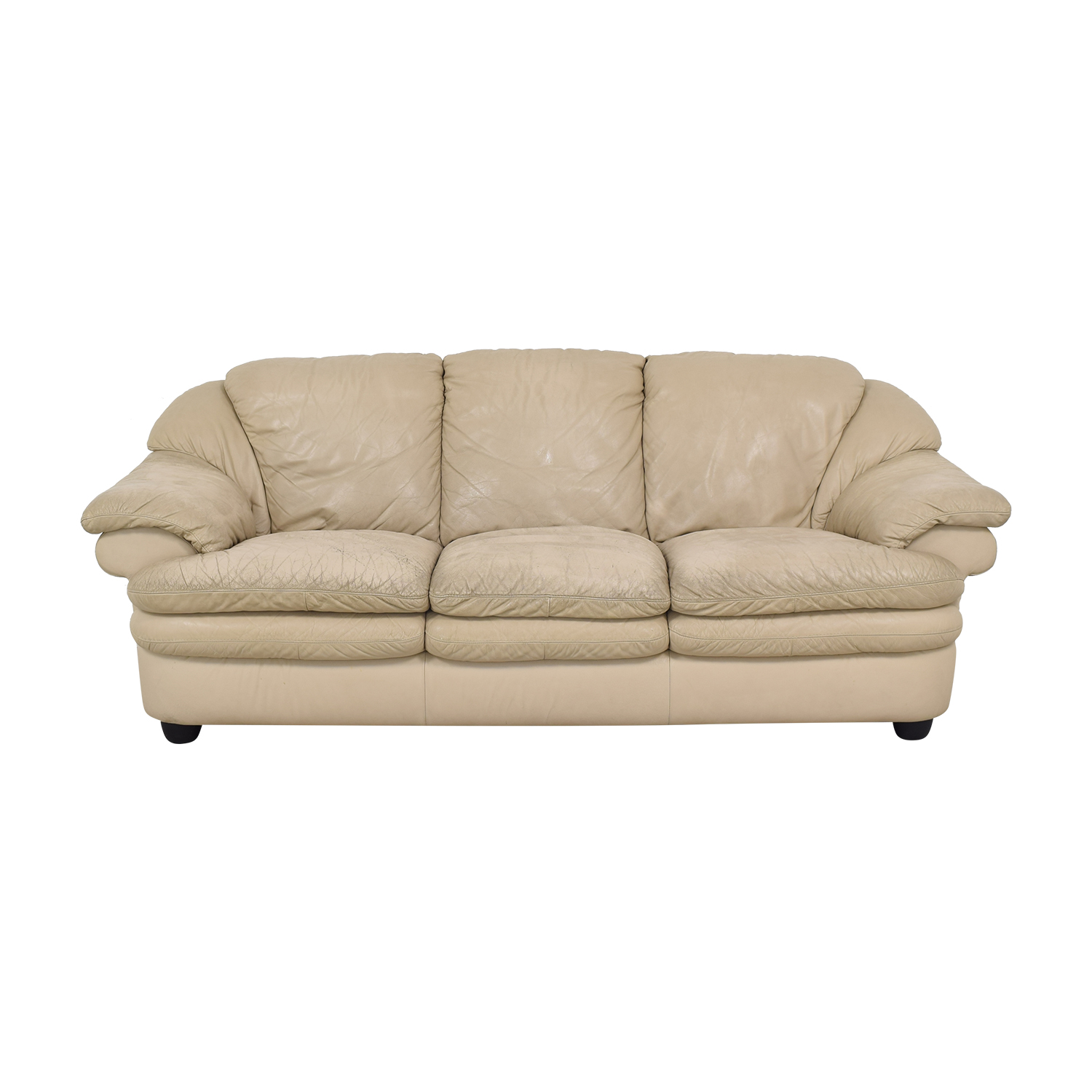 Natuzzi Natuzzi Three Seat Pillow Arm Sofa on sale