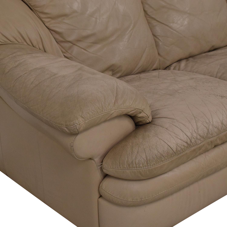 Natuzzi Three Seat Pillow Arm Sofa Natuzzi