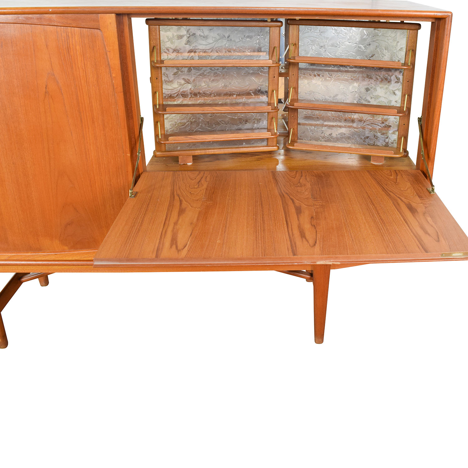 43 Off Teak Danish 1950 S Custom Sideboard With Etched