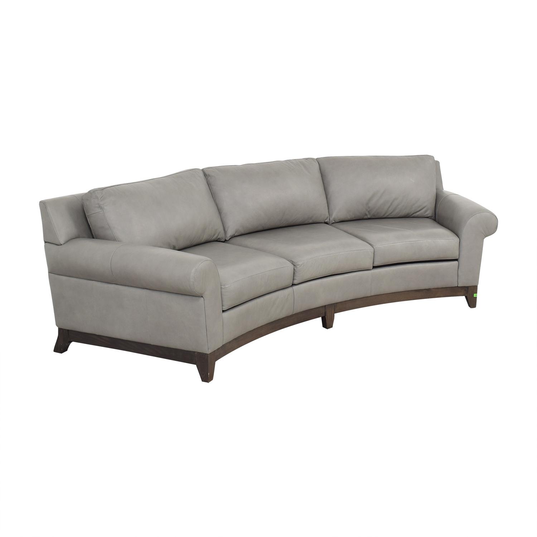 Elite Leather Company Curved Sofa / Classic Sofas