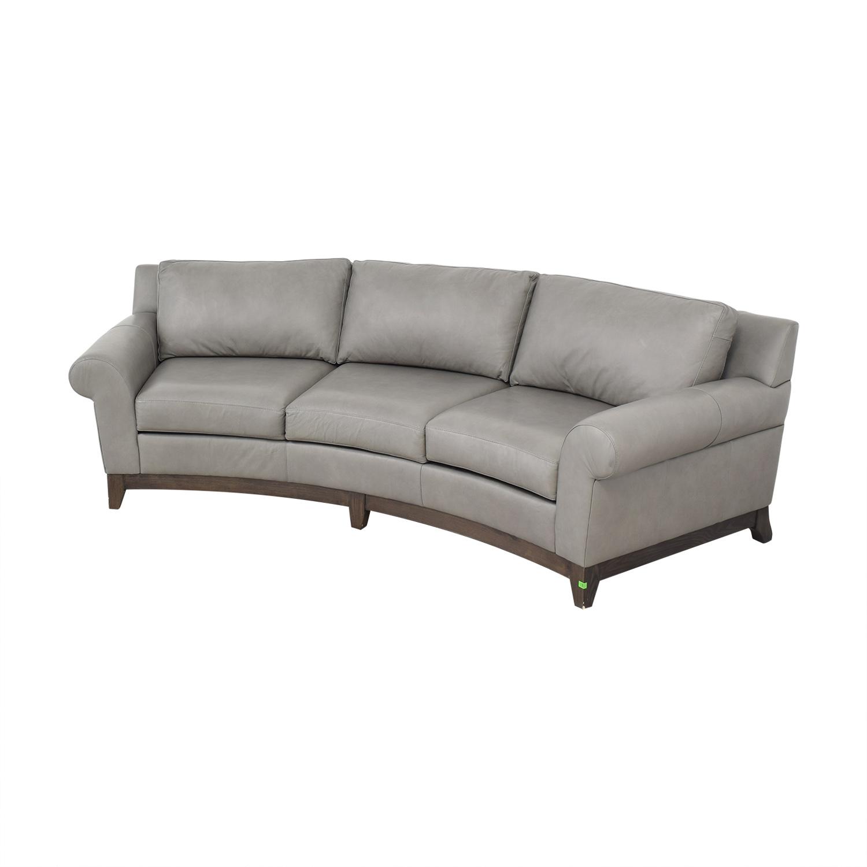Elite Leather Company Elite Leather Company Curved Sofa used
