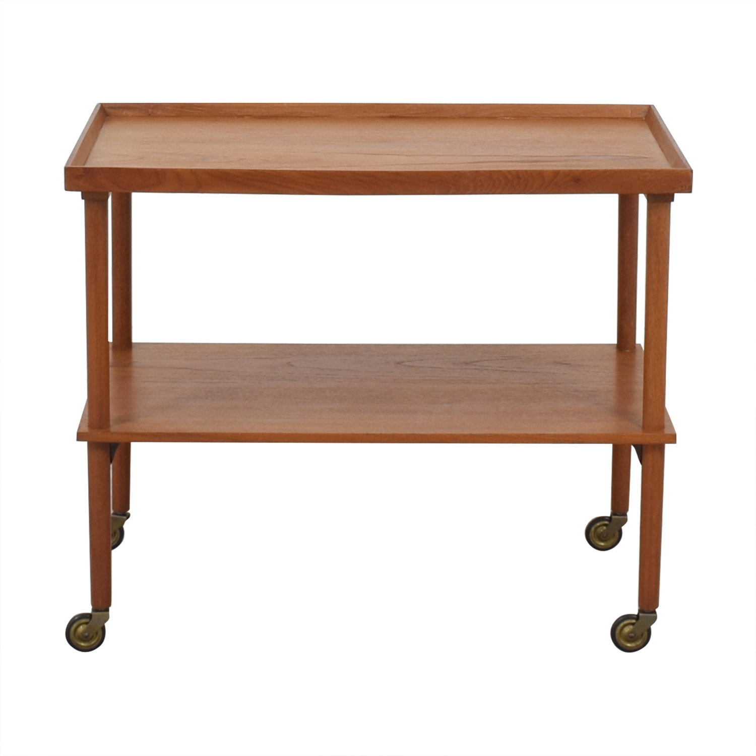 Mid Century Modern Wooden Bar Cart on sale