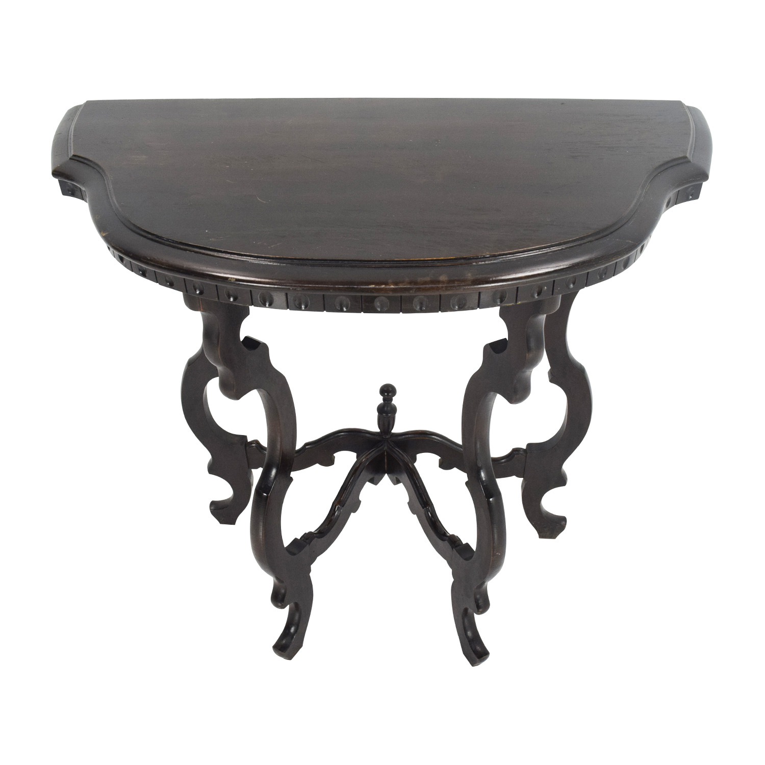Half Moon Dark Wood Occasional Table End Tables