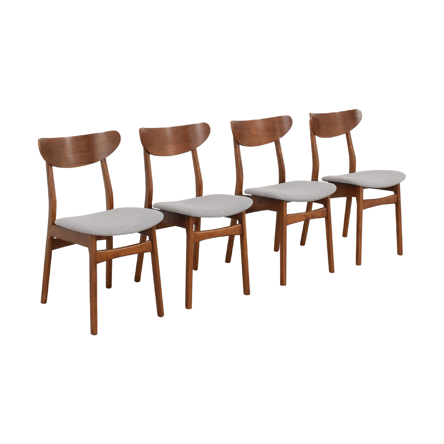 West Elm West Elm Classic Café Upholstered Dining Chairs second hand