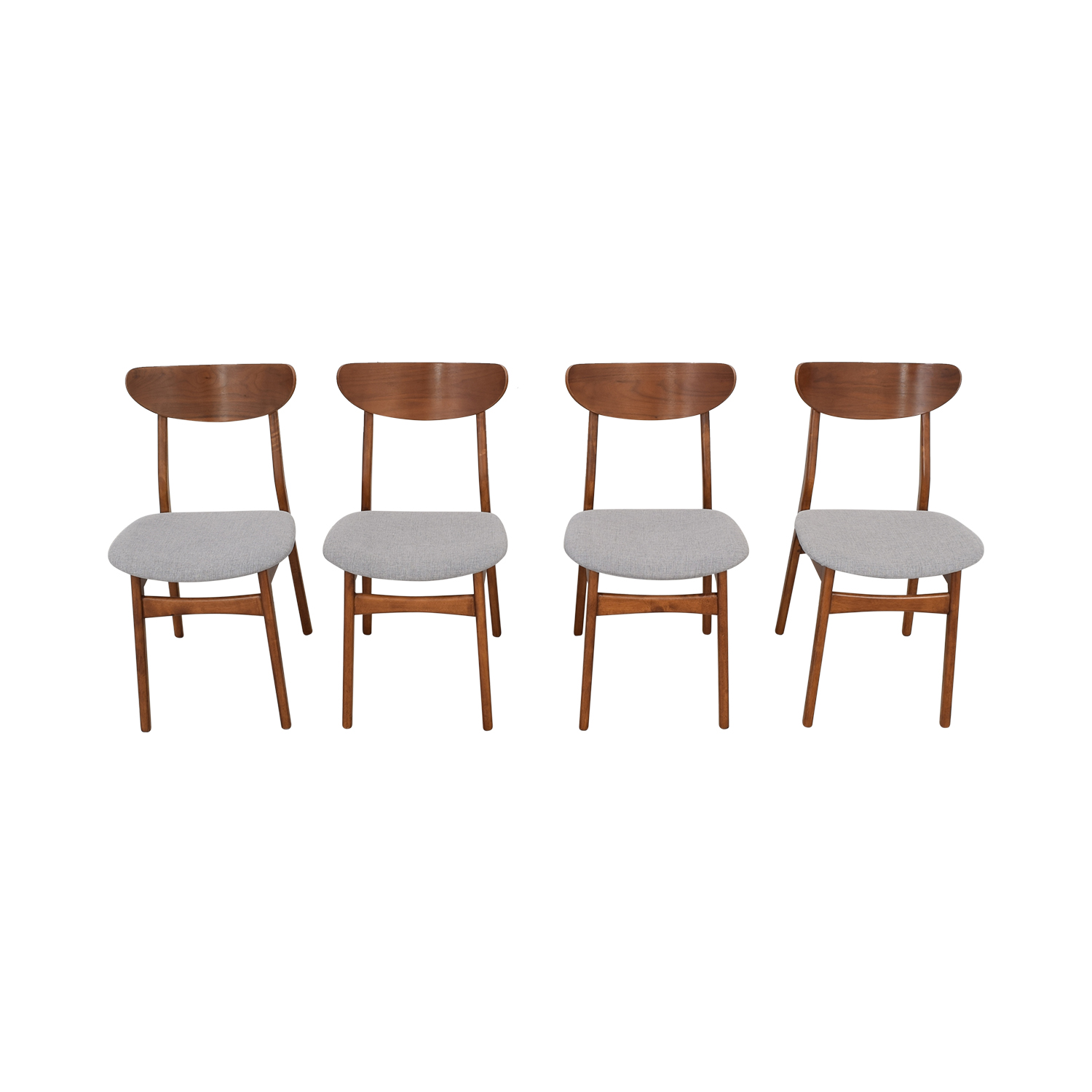 West Elm West Elm Classic Café Upholstered Dining Chairs pa